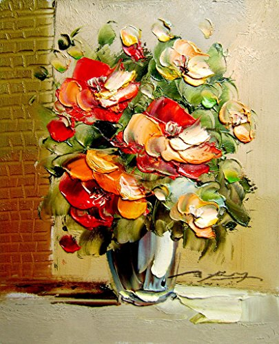 MailingArt Wooden Framed Paint By Number Flowers No Mixing / No Blending Canvas DIY Painting - Classical Flowers (S)