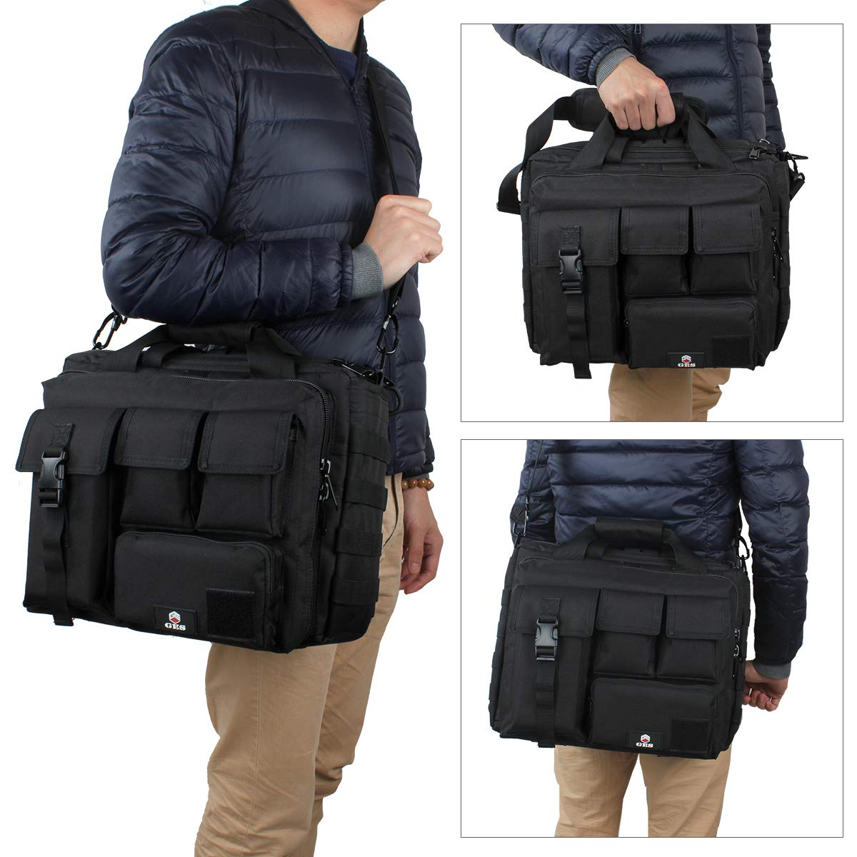 b5dcde849acf GES Laptop Bag - 15.6 Inch Men's Messenger Bag Multifunction ...