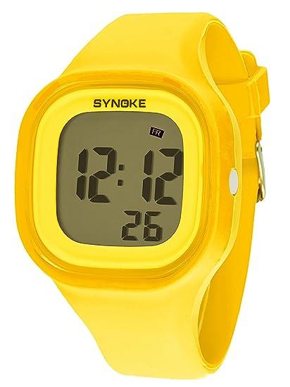 SYNOKE - Reloj de Pulsera Electrónico Digital para Chicos Adolescentes Estudiantes Multifusiones Impermeable con Cronómetro Alarma Colorido Luz de Fondo ...