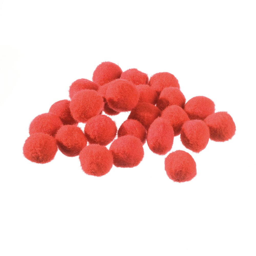 Efco Pompons, Polyamide, Red, 20 mm, 25-Piece 1003128