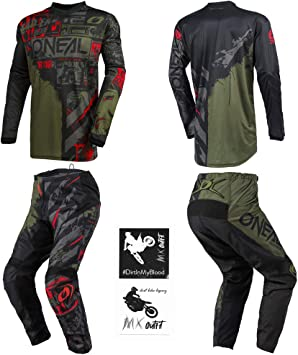 MX Motocross Dirt Bike Off-Road ATV MTB Men Gear O/'Neal Element Racewear Combo