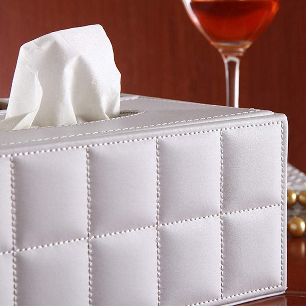 SUPVOX Bo/îte /à mouchoirs en Tissu avec t/él/écommande pour Bureau Blanc