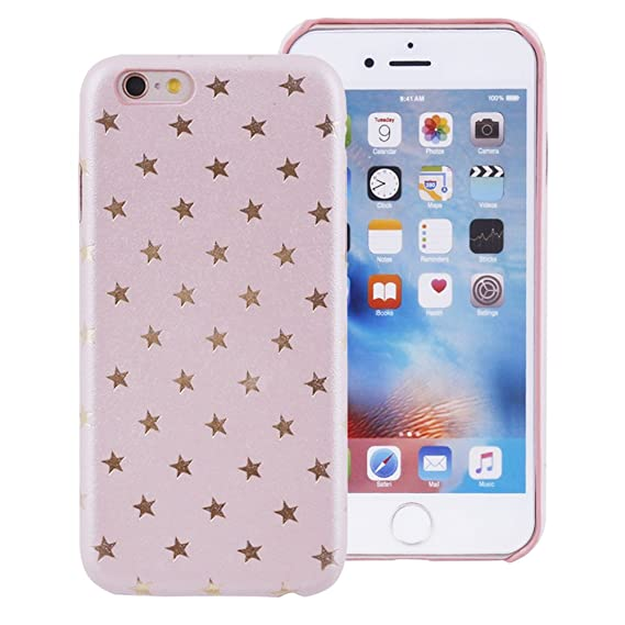 newest 07077 13252 iProtect Limited Edition Star Case for Apple iPhone 7, iPhone 8 TPU  Hardcase - Unique Design - Smooth Touch Protective Sleeve with Gold Stars  in Light ...