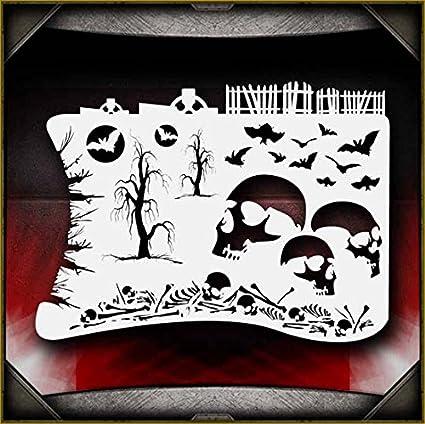 Bushes AirSick Airbrush Stencil Template