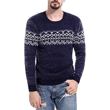 Sudaderas Hombre, Btruely Abrigos Casual Hombres otoño Invierno Jersey de Punto Superior Impreso suéter Blusa Sudadera de Algodón con Capucha Sudadera ...