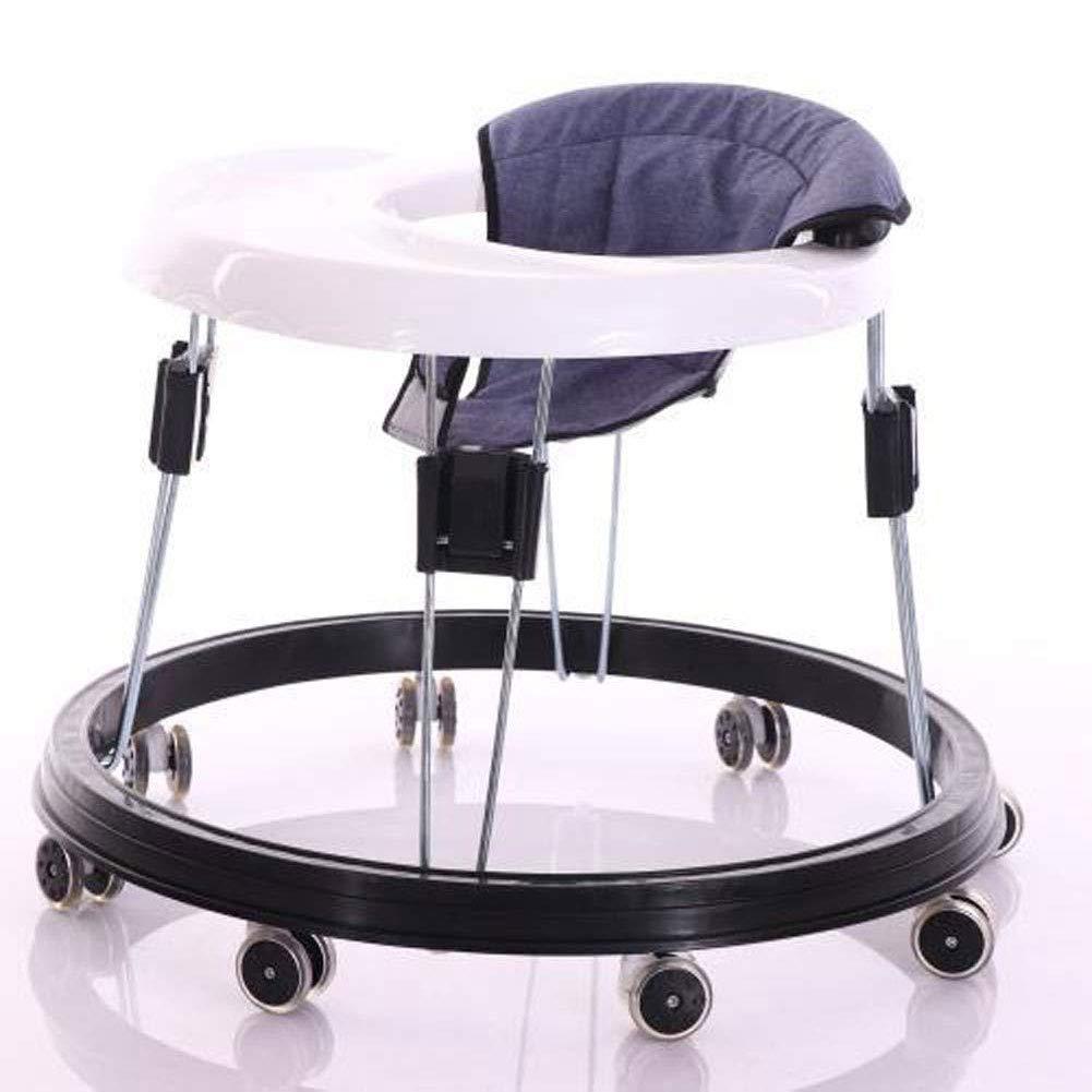 Baby Walker Ride On 1-2-3-4 Walker ab 6 Monaten//Walk free mit Leicht zu reinigendes Tablett und 8 Universalr/ädern//H/öhenverstellbar Blau Grau//Blau//Rot
