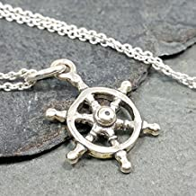 Ship Wheel Necklace - 925 Sterling Silver