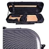 Tonareli Viola Oblong Fiberglass Case - Special Edition Graphite VAFO 1001 - Includes attachable music bag - Adjustable to over 18 inches