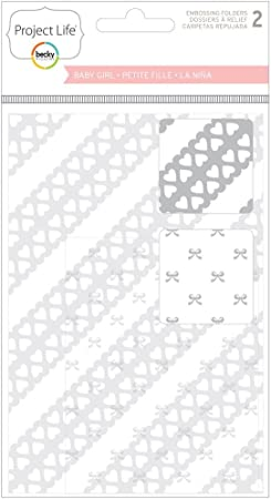 2 per package Project Life Baby Boy Embossing Folders