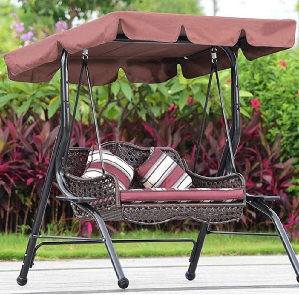 15cm 132 AchidistviQ Universal Replacement Canopy for Swing Seat Chair UV Blocking Waterproof Swing Chair Top Cover Balcony Canopy Dustproof Sun Shade Beige 190