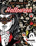 Adult coloring book: Scary and Elegant coloring book for Halloween (relaxation, stress relieving, stress relief, coloring books))