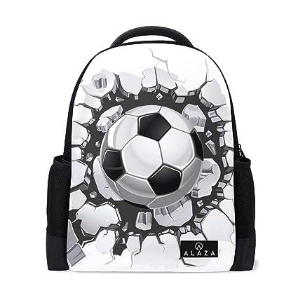 Mochila Escolar de fútbol Rota para Adolescentes, Ligera,
