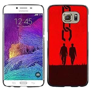 TECHCASE**Cubierta de la caja de protección la piel dura para el ** Samsung Galaxy S6 SM-G920 ** Two Men Western