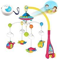tJexePYK Kinderwagen Ton Spielzeug H/ängende Glocke Mit Haken Kindern Fassen Entwicklungs-Pl/üsch-Spielzeug-Set Musical Krippe Mobil Rosa Kaninchen-Form-1PC