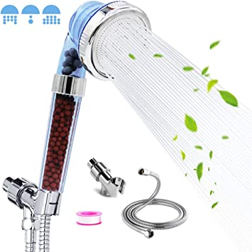 Ionic shower Head,High pressure/&water saving,With 59 inch Replacement Hose