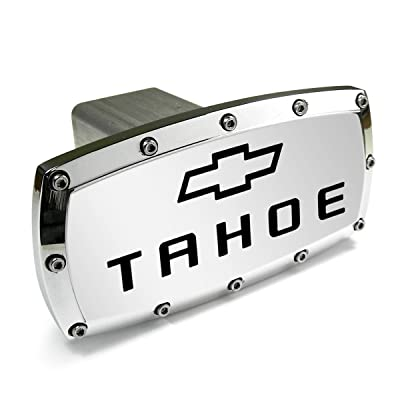 Chevrolet Tahoe Engraved Billet Aluminum Tow Hitch Cover: Automotive