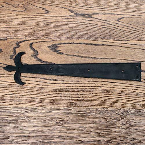 Compatible for Black Old Pair Tee Hinges Door Hinge T Hinge Rustic Hinge Fronts X24 types (Hinge Front Fleur De Lys 15