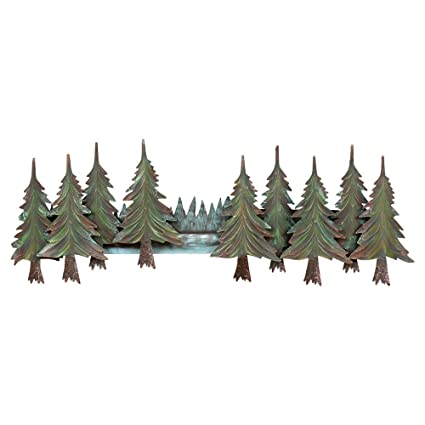 Amazon.com: Pine Tree Forest Metal Wall Art: Home & Kitchen