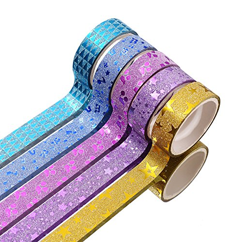 30 Rolls Washi Masking Tape Set,Decorative Craft Tape Collection for DIY and Gift Wrapping with Colorful Designs and…