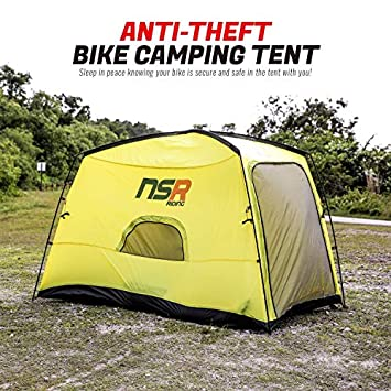 NSR Bicycle Camping Tent, Anti-Theft Design Secures and Stores Bike Inside Tent Road Cycle