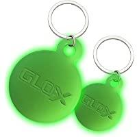 GLO-X Dog Glow Tag - Glow in The Dark Cat Tags to Keep Your Pets Safe at Night - 12+ Hours Glow Time - Charges in…