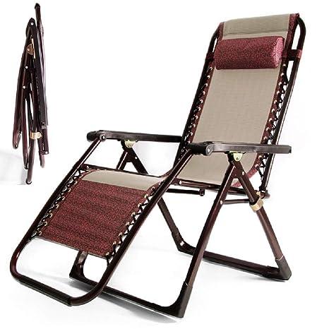 GPFDM Plegable reclinable Jardín Hamaca Tumbona, la Gravedad ...