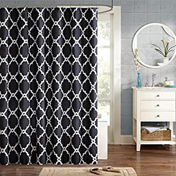 Amazon Madison Park MP70 845 Aubrey Shower Curtain 72x72 Black