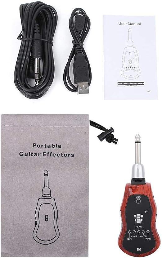 Jadpes Sistema efector de Guitarra, batería Recargable incorporada ...