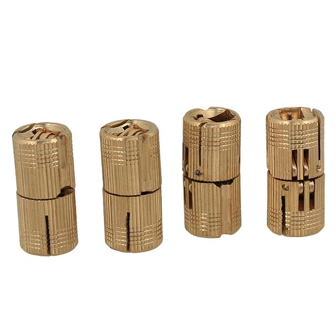 ToniTec Charni/ère invisible cylindrique Exakt Pour meubles En laiton