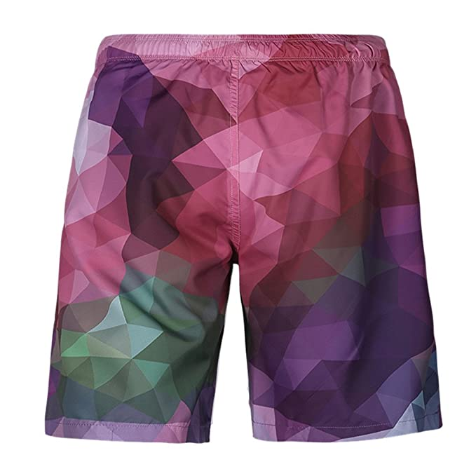 7c0269df70aa Pantaloncini da Spiaggia Uomo LandFox Beach Shorts Pantaloncini da Spiaggia  da Spiaggia Stampati Casual da Uomo Plus Size Beachwear Calzoncini da Bagno  Uomo ...