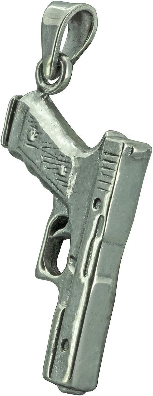 Pistol Gun Beretta - Colgante para hombre (12 g, plata de ley maciza)