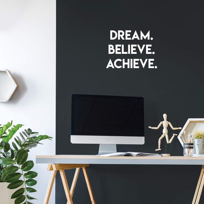 Vinyl Wall Art Decal - Dream Believe Achieve - 13.5