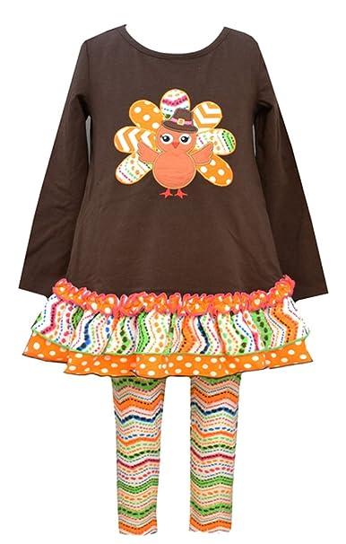 Amazon Com Bonnie Jean Girls Thanksgiving Turkey Dress Outfit