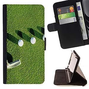 - Golf Ball Sport Tiger - - Caso de la cubierta de la piel cierre magn????tico Cartera de cuero del tir????n FOR Samsung Galaxy S6 Gaga Case