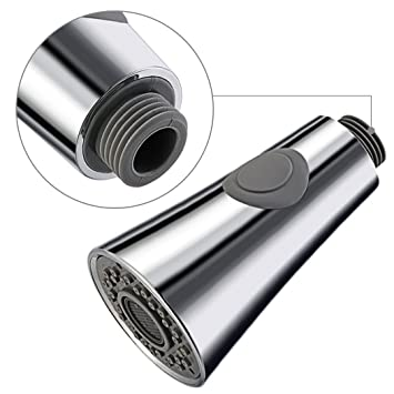 Ersatz Brausekopf Geschirrbrause Spültisch für Wasserhahn Küchenarmatur Silber