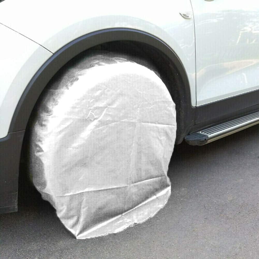 resistente a la intemperie cami/ón 80*30cm coche rueda de caravana para auto protecci/ón solar 1 funda protectora para llantas de 32 pulgadas color plateado caravana Ajboy 210d Oxford