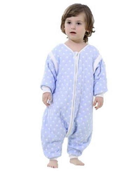 Bebé saco de dormir con pies y mangas desmontables 2.0 Tog Blue Spot azul azul Talla