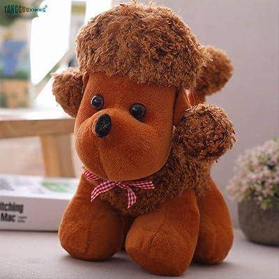 BEST9 Suave Relleno mardo Felpa algodón Animales Muñecas Juguetes de Felpa Perro cumpleaños 30cm: Juguetes y juegos
