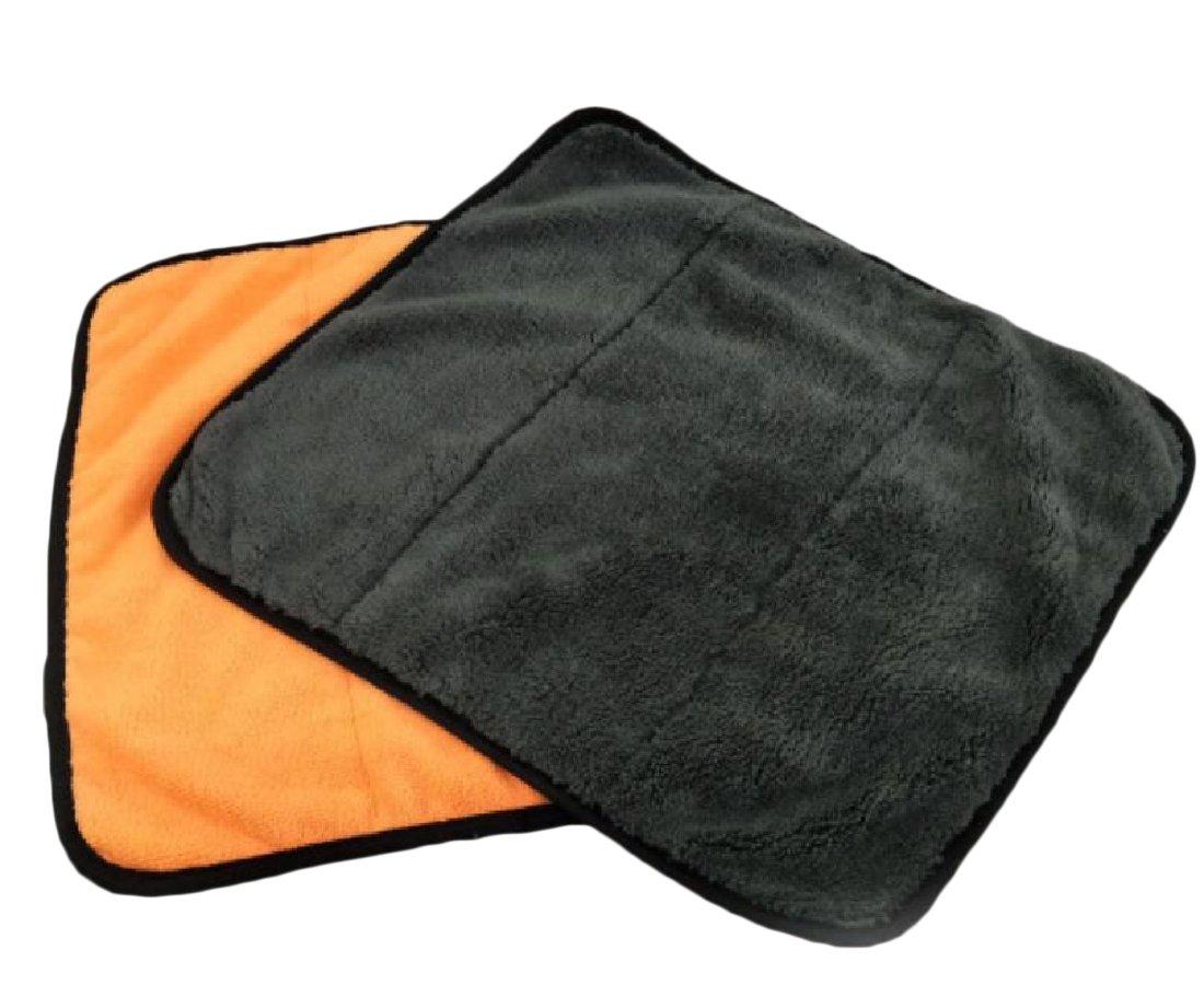 Zimaes Superfine Fiber Chenille Absorbent Premium Plush Cloth Double Layer Thick Chamois Towel Orange OS
