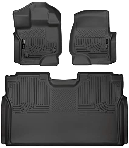 fce302ee1fed1 Husky Liners 94041 Combo Set Black Front and 2nd Seat Floor Liners Fits  2015-19 Ford F-150 SuperCrew