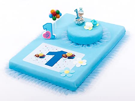 Decoración para tartas (1. Cumpleaños Niño 8 piezas tarta, 1 ...