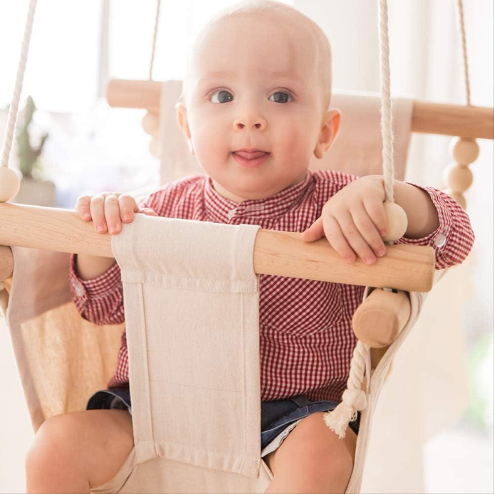 Bebé Columpio Silla Colgante Madera Niños Kindergarten Juguete Exterior Interior Pequeña Cesta Mecedora Mecedora Bebé Juguete
