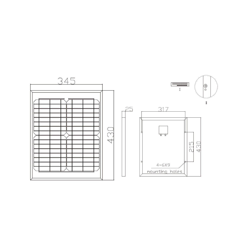 Offgridtec Mono Solarpanel/zelle, 12 V, 20 W, 001560: Amazon.de ...