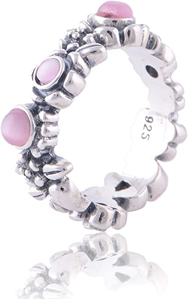 ebf45e48e Pandora Match Nature's Serenity Sterling Sterling Silver Ring with Pink Cz  Size 9: Amazon.co.uk: Jewellery