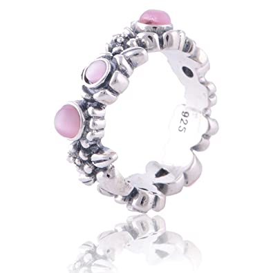 b5cf2b329 Pandora Match Nature's Serenity Sterling Sterling Silver Ring with Pink Cz  Size 7: Amazon.co.uk: Jewellery