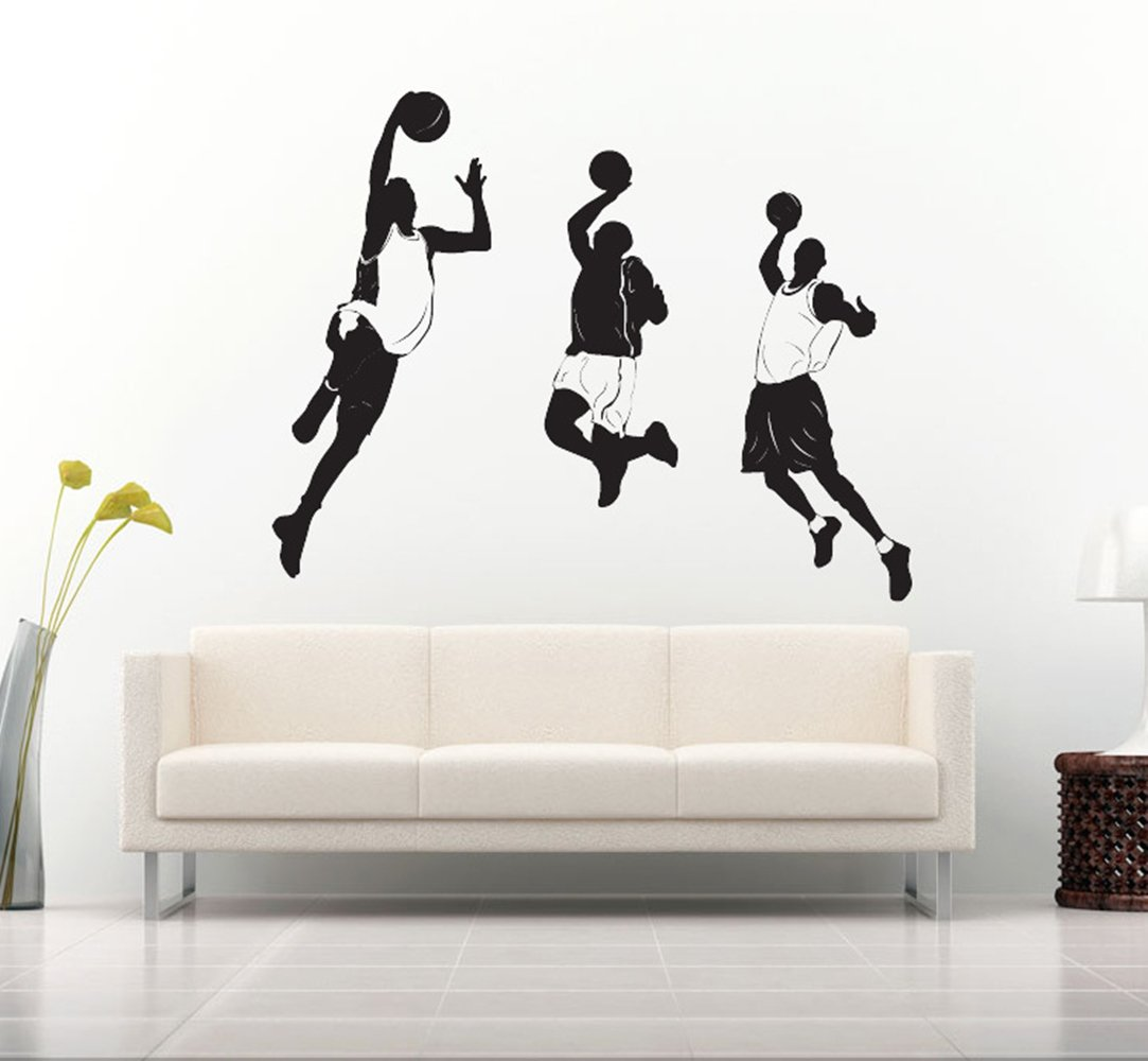 Wall Stickers Basketball Removable Wall Decor Decals Inspiration Wall Decals for Kids Boys Girls Living Room Bedroom Classroom,21.6 x 22.8 Inch