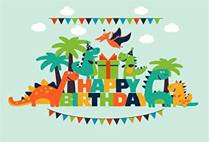 LFEEY 5x3ft Cartoon Dinosaur Kids Happy Birthday Backdrop For Pictures Lovely Funny Dinosaurs Children Gilrs Boys
