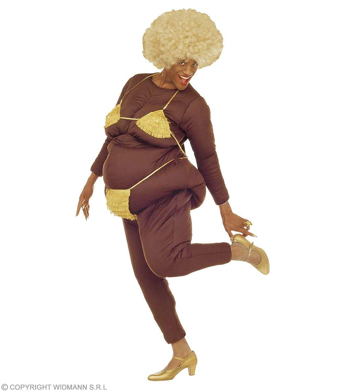 WIDMANN wdm4490 N – Disfraz para adultos lap-dancer grassona (osfma), color marrón, talla única