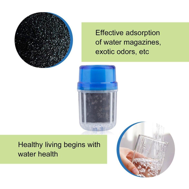 Lenvironnement a activ/é leau du robinet de carbone double purificateur filtre t/ête purificateur deau utilisation pour cuisine Robinet robinet bambou charbon outil