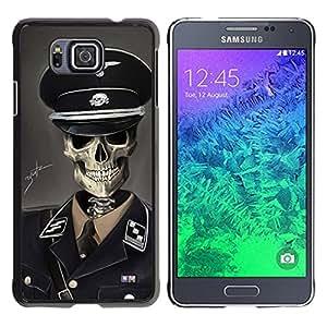 Caucho caso de Shell duro de la cubierta de accesorios de protección BY RAYDREAMMM - Samsung ALPHA G850 - SS Soldado